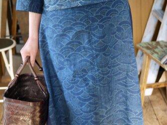 筑紫ゆうき藍染アンサンブルの画像