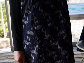 正絹紬前あきワンピースの画像