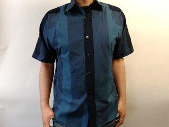 半袖浴衣シャツ(織り太縞)の画像
