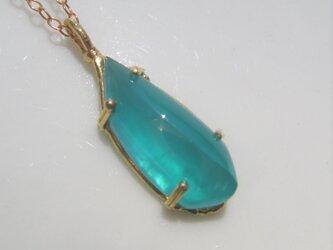 グリニッシュブルースミソナイトのネックレスの画像