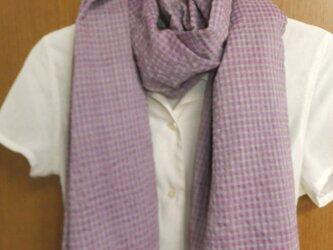 手織りコットンストール(pp*gr)の画像