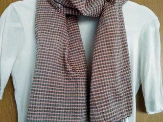 手織りコットンストール(bl*or)の画像