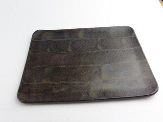 鉄釉 朝食プレート皿の画像