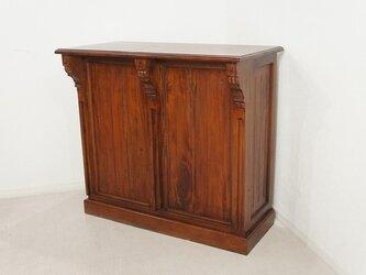 アンティーク調 マホガニー レジカウンター テーブル サイドボード レジ台 店舗什器の画像