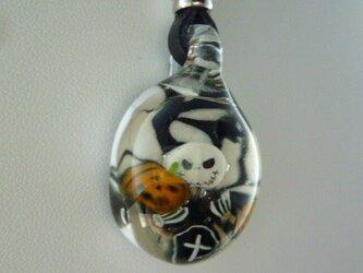 ジャック、ハロウィンNO.6(ガラス、ネックレス、コウモリ)の画像