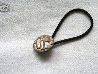 フランスアンティーク・ボタンへアゴム/幾何学模様(AFB-043)の画像