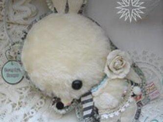 淡し白バラうさぎさんの装着ドールポーチ*の画像