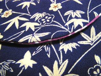 絹と櫻木綿のポーチ 着物地リメイク の画像