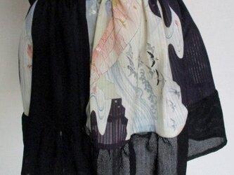 送料無料 絽の帯と着物で作ったミニスカート 3468の画像