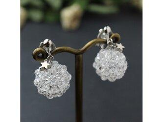 花珠のイヤリング クリアカラーの画像