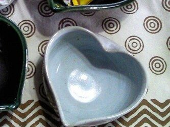 ハートの小鉢  (白釉)の画像