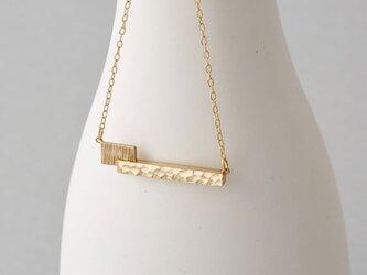 カクカクシカジカ 真鍮ネックレス-2粒-の画像