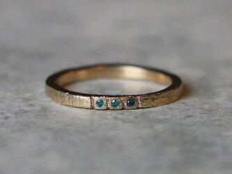 アンティークスタイル*blue  diamond 10KG *指輪 8号の画像