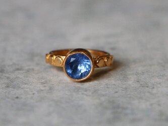 古代スタイル*天然カラーチェンジフローライト 指輪*8.5号 GPの画像
