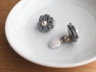 tatting lace earring/pierce【silver】の画像