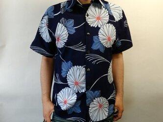 半袖浴衣シャツ(菊と芒)の画像