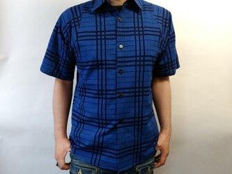 半袖浴衣シャツ(三筋格子)の画像