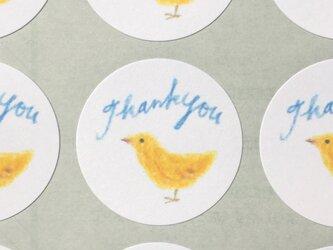 鳥のサンキューシールの画像