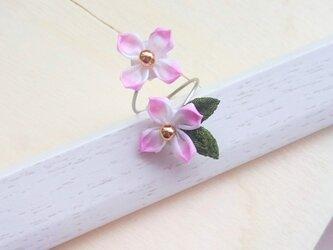 つまみ細工〜紫陽花のリング〜の画像