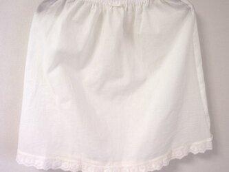 フリル大好きペチスカートD(クリーム色)の画像