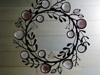 ガラスのリース [野の花] Pの画像
