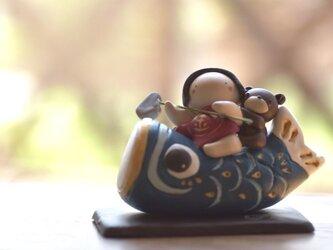 鯉のぼり と 金太郎(青)の画像