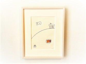 「ドーナッツ」イラスト原画/額縁入りの画像