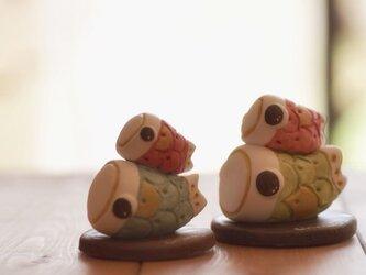 紙粘土で♪ミニミニ鯉のぼりの画像