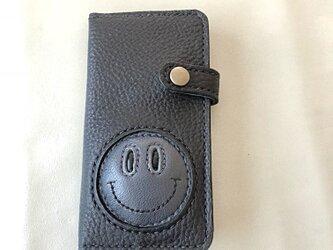 ぷっくりニコちゃん iPhoneXケース(Black)の画像