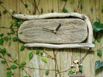 流木の壁掛け時計、縦横兼用-10の画像