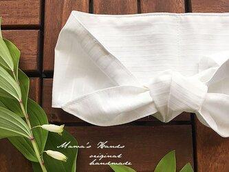 保冷剤 白 ストライプ 綿 節約 快適 エコ スカーフ ネッククーラーの画像