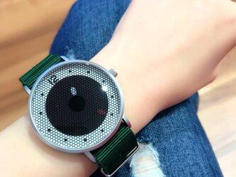 ナイロンベルト スポーティー腕時計 *ディープグリーン* <u-002>の画像