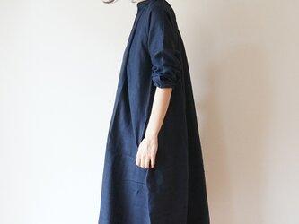 Linen One piece coat LADY'S NAVYの画像