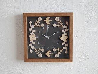 box clock ハナウタ(gray)の画像
