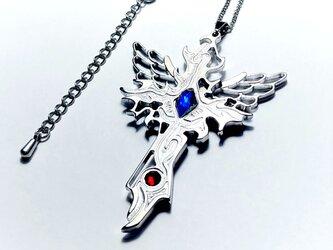 【Wing Crossネックレス】 羽&十字架 / ペアやプレゼントとしてもおしゃれの画像