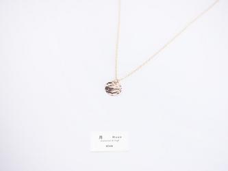 日向坂46着用*【14kgf】満月ネックレス/槌目/mini ゴールド チェーン 華奢 シンプルの画像