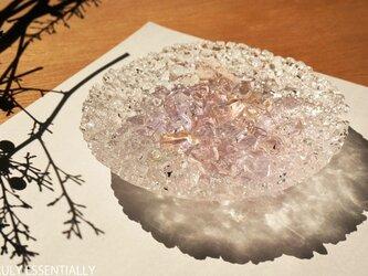 ガラスのアクセサリートレイ -「 灯りのタネ 」 ● さくら・12cmの画像