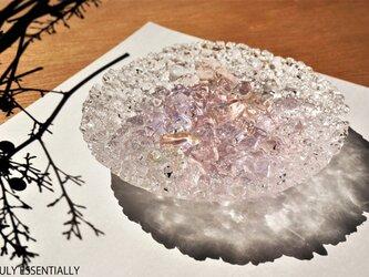 ガラスのアクセサリートレイ -「 KAKERAの光 」 ● さくら・12cmの画像