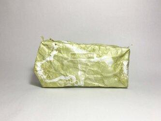 石材のようなビッグサイズポーチ Like a stone  (size:M) Lime goldの画像