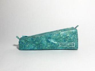 石材のようなペンケース Like a stone  (size:S) Tuff emeraldの画像