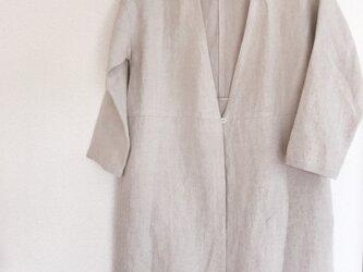 【受注生産】リネンツイルのコート  ベージュの画像