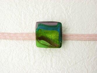 ガラスの帯留め(obi-7)の画像
