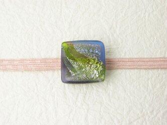 ガラスの帯留め(obi-8)の画像