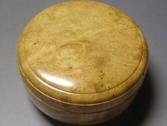 アカシア瘤杢木地仕上げ  ミニ食籠 香盒にもの画像