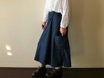 岡山児島デニムの脇スリットロングスカート セミオーダー(スカート丈・ウエスト)の画像
