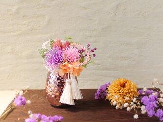 水引*お供え花(藤色と桜色)の画像