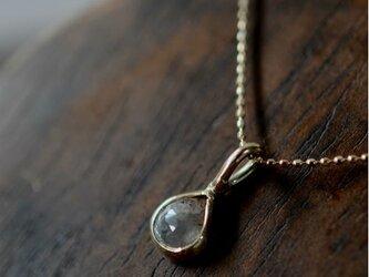 ローズカットダイヤモンドk10ゴールドペンダントの画像