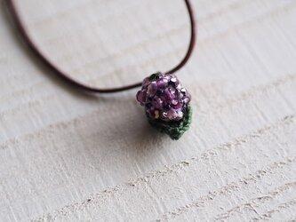 あじさいのネックレス【紫】の画像