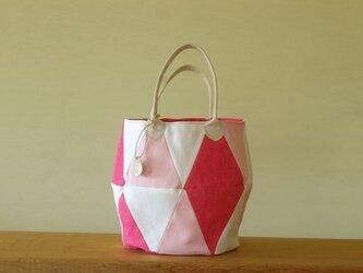 三角トート ピンク2の画像