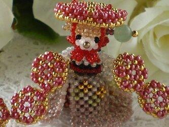 七枚笠 灰桜×深紅の画像